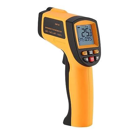 Sin contacto termómetro infrarrojo digital probador Rango de temperatura de -50 a 750 grados de
