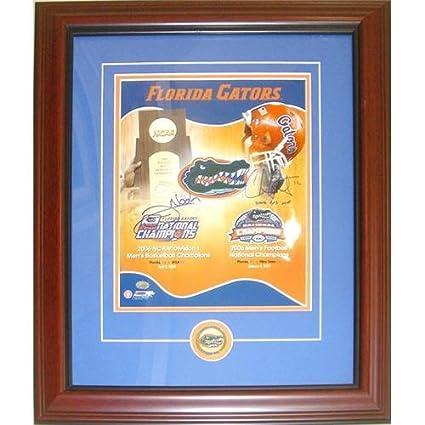 ce8a186551e Amazon.com: Chris Leak and Joakim Noah Autographed Florida Gators (Dual  Championship) Deluxe Framed 11x14 Composite Photo: Sports Collectibles