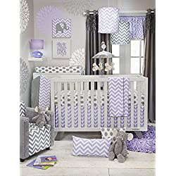 Glenna Jean Sweet Potato Swizzle Girl's 3 Piece Set, Grey/Purple/White