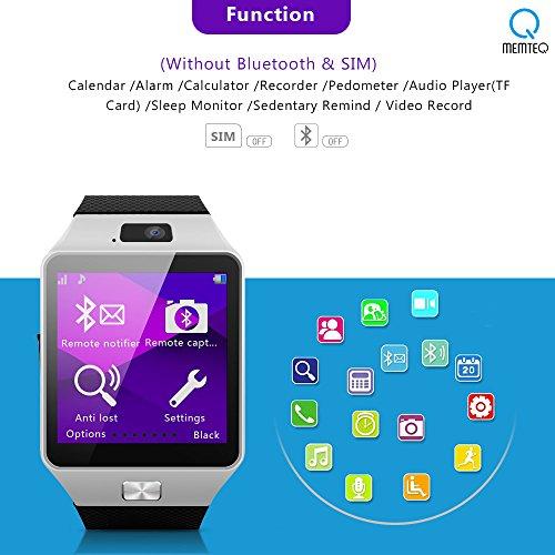 MEMTEQ-Reloj-Inteligente-por-Bluetooth-Smart-Watch-Pulsera-pantalla-de-156-con-cmara-13MP-para-smartphone-Android-Samsung-HTCLGHUAWEIZTEXiamomi