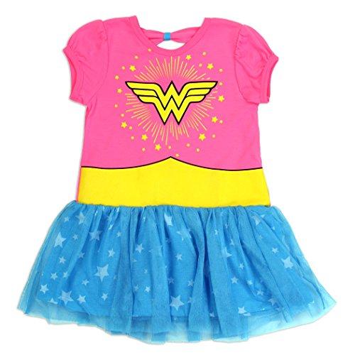 DC Comics Wonder Woman WB Wonder Woman Girls Youth 4-6X Tutu Dress (6X) -