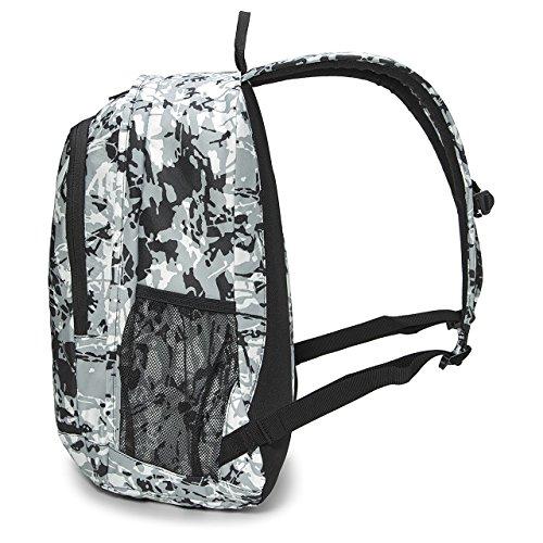 Nike Hayward Futura 2.0 Print Laptop Backpack STUDENT School Bag (Black/Grey/White, One (Hayward Bag)
