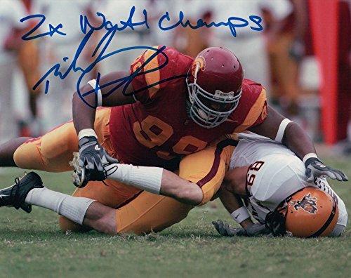 Patterson Autographs (Mike Patterson Signed 8X10 Photo Autograph USC
