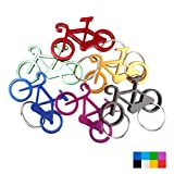 Swatom Bicycle Aluminum Alloy Beer Bottle Opener Keychain Key Tag Chain Ring Accessories (6, Random Color)