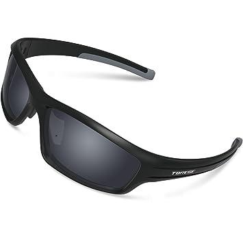 Gafas de sol deportivas Torege TR90 polarizadas para hombres y mujeres, para ciclismo, correr