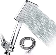 """Ablink High Pressure Shower Head with Handheld, 6 Modes Chrome Shower Head with 59"""" Stainless Steel Hose"""
