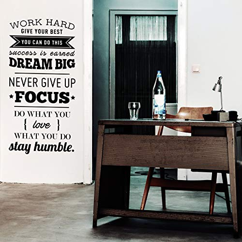 (Vinyl Wall Art Decal - Work Hard Give Your Best You Can Do This - 40