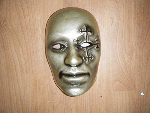 Wrestling Masks UK Men's Danny Boy Undead Band Fancy Dress Up Mask One Size Gold