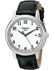 Tissot Mens T0854101601200 Carson Analog Display Swiss Quartz Black Watch