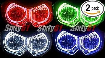 GSXR600 Sixty61 Headlight Halos for Suzuki GSXR 600 750 2011-2019 CCFL Angel Eyes light ring kit GSXR750 Blue