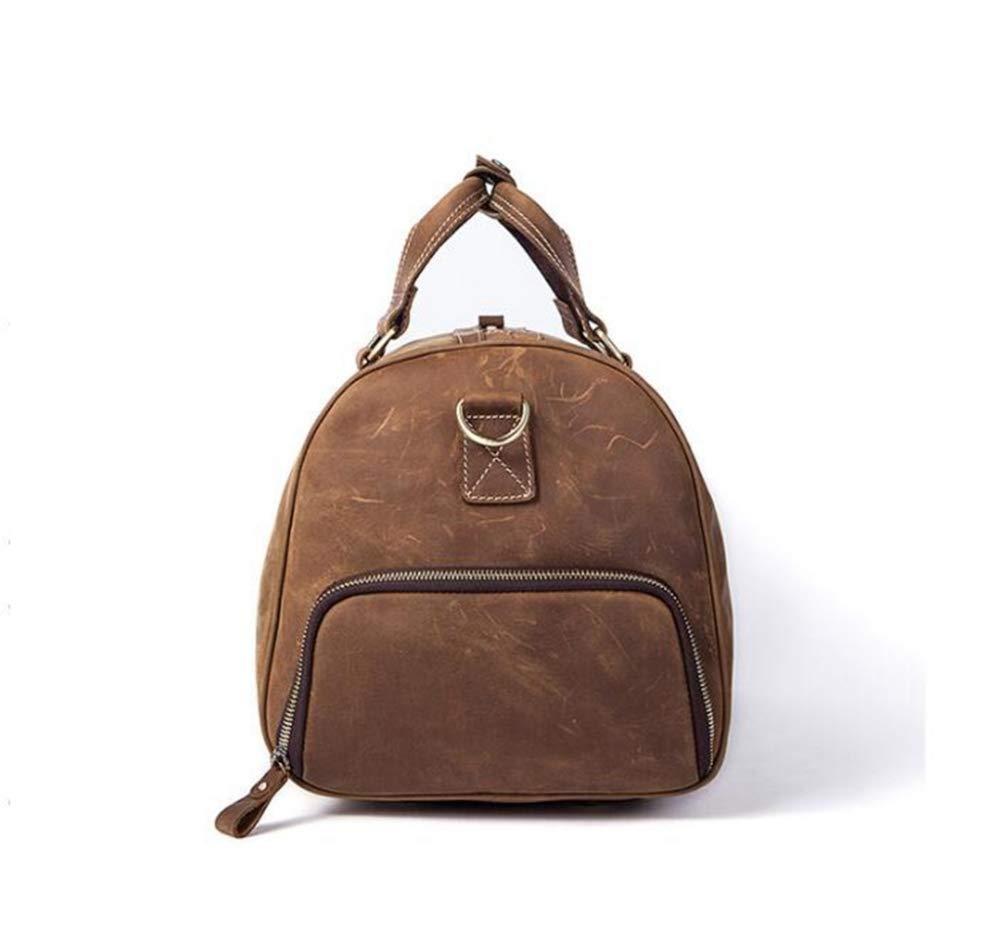 Sxuefang Mens Shoulder Bag Mens Messenger Bag Travel Bag Single Shoulder Travel Bag Large Capacity Retro Mens Shoulder Bag Handheld Luggage Bag 47x23x24cm