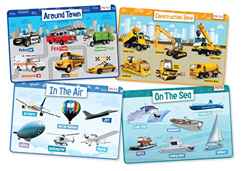 Contruction Vehicles Planes Educational Placemats product image