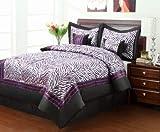 Sassy Zebra Comf Set Full Purple