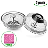 #9: 2-Pack Kitchen Sink Strainer Stainless Steel Drain Filter Strainer with Large Wide Rim 3.5