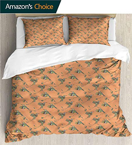 Style 3D Digital Print Bedding Sets,Box Stitched,Soft,Breathable,Hypoallergenic,Fade Resistant 100% Cotton Beding Linens For Kids Children-Hummingbirds Tribal Wings And Tails (90