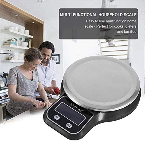 Bilancia da cucina digitale , Bilancia da cucina digitale elettronica digitale nera Bilancia da cucina con retroilluminazione bianca Display LCD Bilancia da cucina portatile