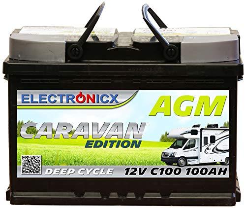51OvHNUVh6L Electronicx Caravan Edition Batterie AGM 100AH 12V Wohnmobil Boot Versorgung Solarbatterie Versorgungsbatterie 100ah