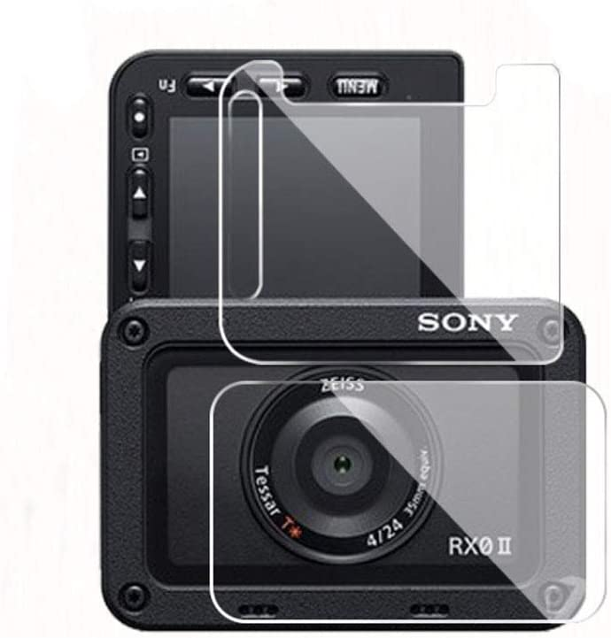 Zshion Screen Protector Compatible with Sony RX0 II,Soft Tempered Glass Screen Protector for Sony RX0 II with Anti-Fingerprint Bubble-Free Crystal Clear 2 Pack