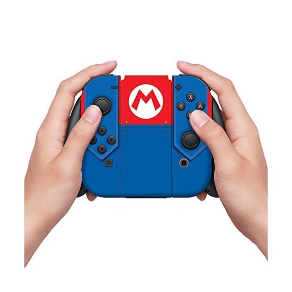 Controller Gear Nintendo Switch Skin & Screen Protector Set - Super Mario - Mario's Outfit - Nintendo Switch 3