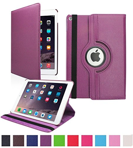 MOCA for The Apple NEW iPad 9.7 inch 2018 / 2017 Model. A1893 A1954 A1822 A1823 PU Leather Folio flip cover  Purple