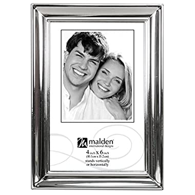 Malden Concourse Silver Metal Frame, 4 by 6-Inch