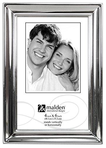 Shiny Silver Frame (Malden International Designs Concourse Silver Metal Picture Frame, 4x6, Silver)