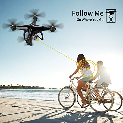 JJRC H68G GPS Return Home Drone Drone with 720P HD Camera Live Video 120° Wide-Angle 5G WiFi RC Drone Quadcopter with 980ft Control Distances, Follow Me, Altitude Hold Headless Mode Helicopter (Black) by JJRC (Image #5)