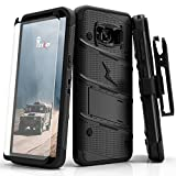 Zizo Samsung Galaxy S8 Plus Case, Bolt Series with Screen Protector, Kickstand, Military Grade Drop Tested, Holster Belt Clip
