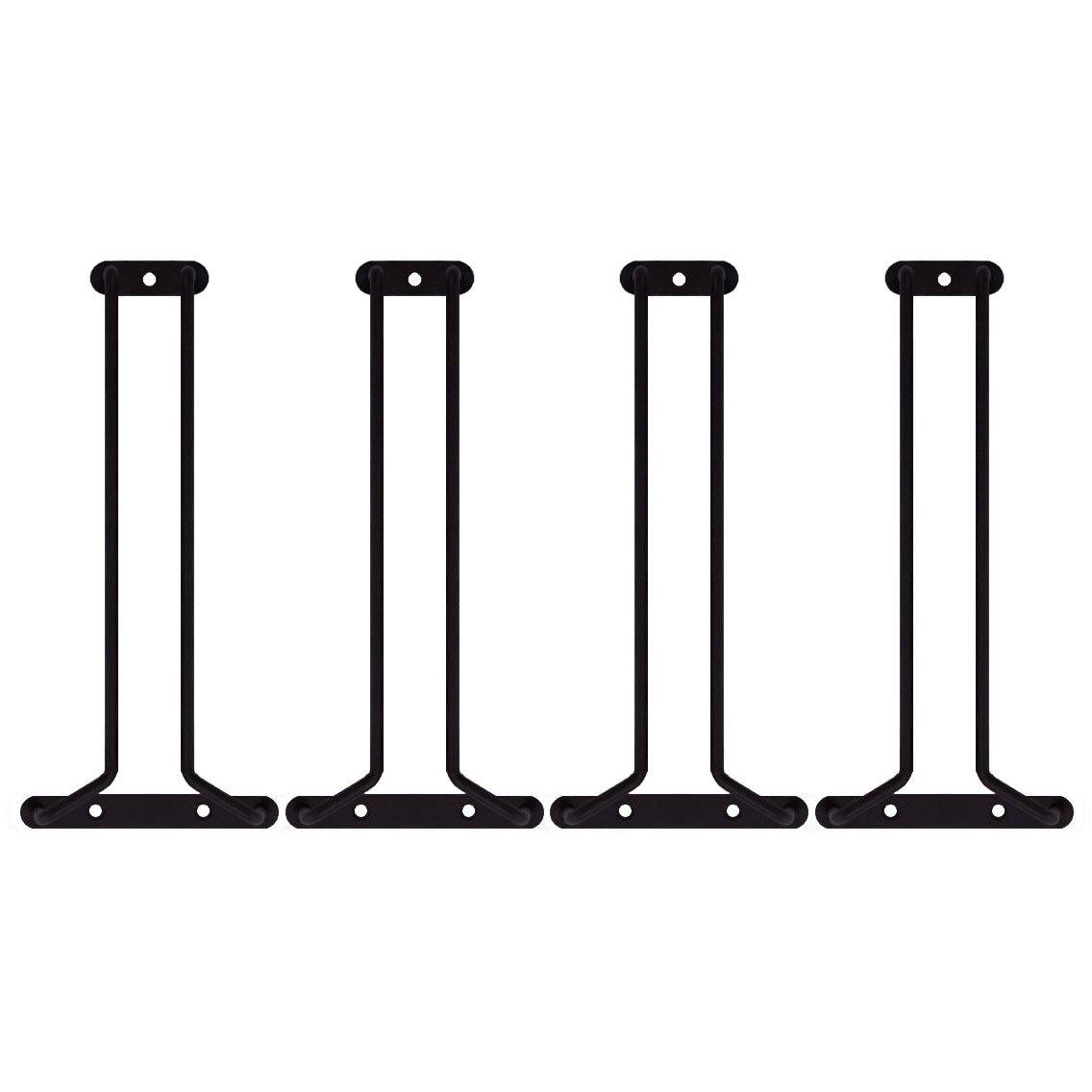KegWorks Stemware Glass Hanger Racks - Oil Rubbed Bronze - 10'' L - Set of 4
