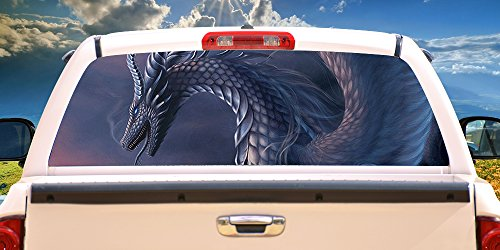 SignMission Dragon Rear Window Graphic Tint Film See View Thru Vinyl 12