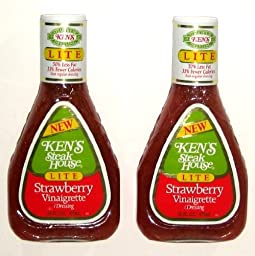KEN\'S Steak House Strawberry Vinaigrette LITE Dressing - 16 Oz (2-Pack)