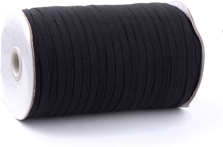 Airssory Stretch Flat Braided Elastic Cord for Clothing Sewing Craft DIY Handmade Mask 3.5~4mm Wide 200-Yard//600-Feet