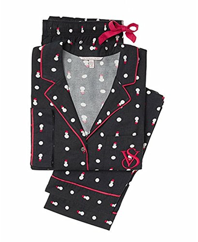 (Victoria's Secret The Dreamer Flannel Snowman Pajama PJ Set)