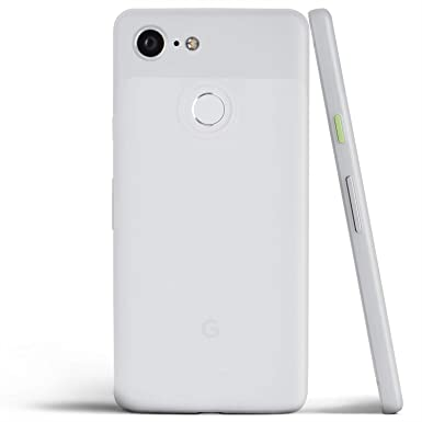 size 40 7e1d0 a3778 totallee Pixel 3 XL Case, Thinnest Cover Premium Ultra Thin Light Slim  Minimal Anti-Scratch Protective - For Google Pixel 3XL (Frosted Clear)