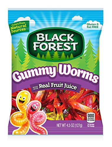 Black Forest Gummy Worms Candy
