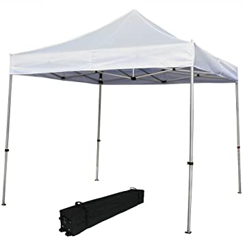 Sunnydaze Commercial Grade Heavy-Duty Aluminum Straight Leg Quick-Up Instant Canopy Event Shelter  sc 1 st  Amazon.com & Amazon.com : Sunnydaze Commercial Grade Heavy-Duty Aluminum ...