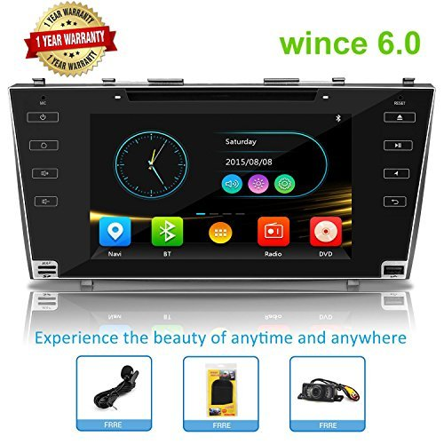 Car Stereo Double Din Car Head Unit Radio Double Din GPS Auto Stereo Wince Car Radio for Toyota Camry 2006-2011 With Bluetooth Touch Screen with GPS Navigation for Car