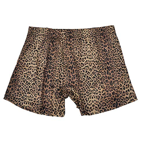 LORVIES Mens Two Leopards Pattern Beach Board Shorts Quick Dry Swim Trunk