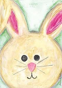Toland - Floppy Eared Bunny - Decorative Cute Rabbit Easter Holiday USA-Produced House Flag