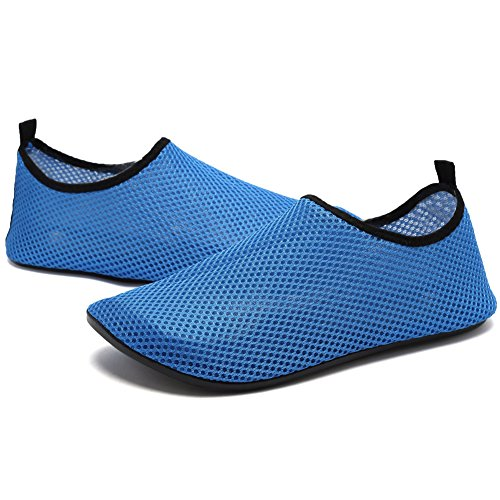 Cior Uomini E Donne A Piedi Nudi Pelle Aqua Scarpe Antiscivolo Multifunzionali Scarpe Da Acqua Per La Spiaggia Piscina Surf Yoga Esercizio Blue05
