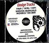 THE ABSOLUTE BEST 1969 1970 1971 DODGE TRUCK & PICKUP REPAIR SHOP & SERVICE MANUAL CD INCLUDES Gas & Diesel A100, A108 van, Compact, pickup, panel van, Sportsman Wagon, and Custom Sportsman. 69 69 71