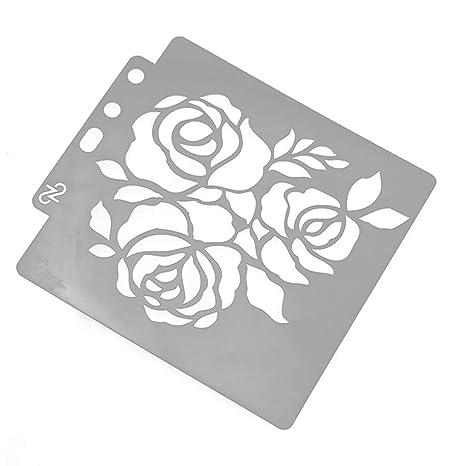 Xurgm Flores Caracteres Plantillas Bullet Journal Plantilla Accesorios, Regla de plástico Dibujo Graduación Pintar Dibujo