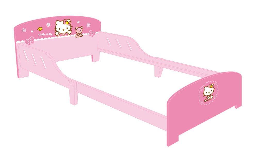 Jemini - 711936 - Ameublement et DÉcoration - Lit en Bois - Hello Kitty - 190 x 90 cm