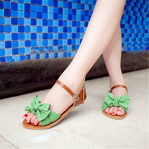Westbrook 31 Ankle Robert Wrap P23538 Footwear Women Sandals 45 Size Sandals Bowknot Ladies Flat Green Shoes Large qwwOCd