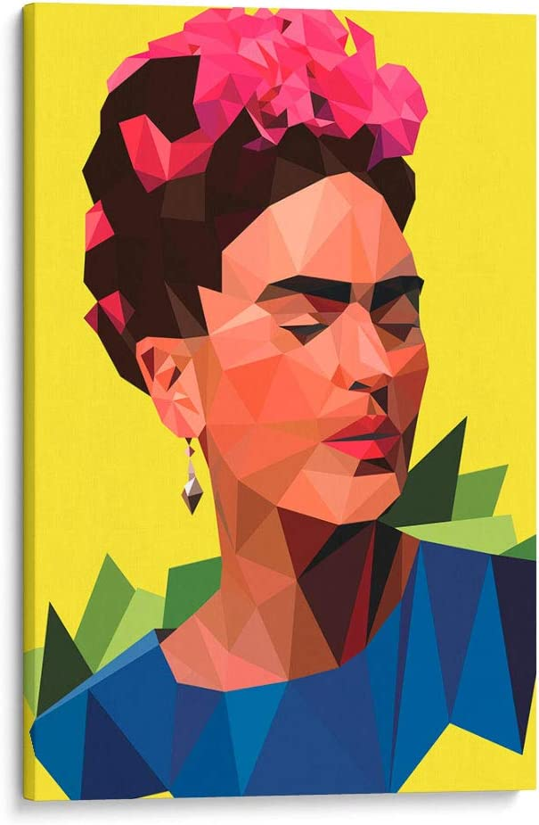 Cuadro decorativo de canvas (lienzo), Frida geométrica