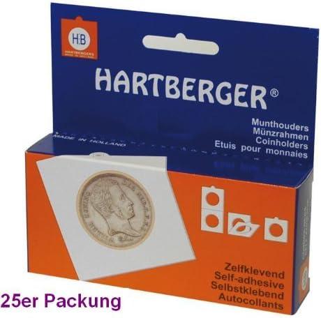 25 x 22,5 mm Hartberger M/ünzr/ähmchen Coinholder selbstklebend self adhesive