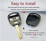 Lexus Key Shell Case Fob Cover Replacement Blank Key Smart Keyless Entry Remote for Lexus ES GS GX IS LS LX RX SC FCC ID: HYQ1512V HYQ12BBT