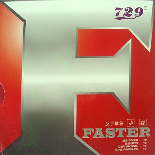 729 Faster Table Tennis Rubber (Red) - 4