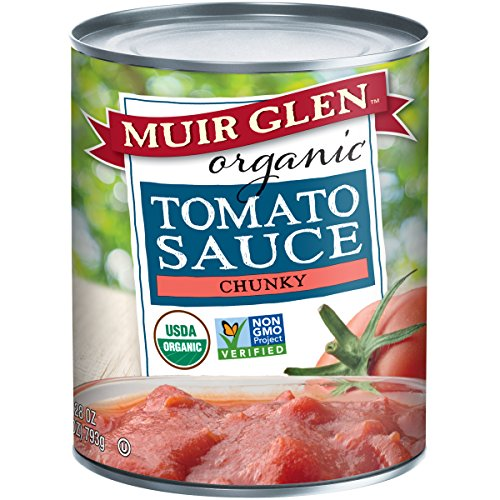 Muir Glen Tomato Sauce (Muir Glen Organic Tomato Sauce, Chunky, No Sugar Added, 28 Ounce Can (Pack of 12))