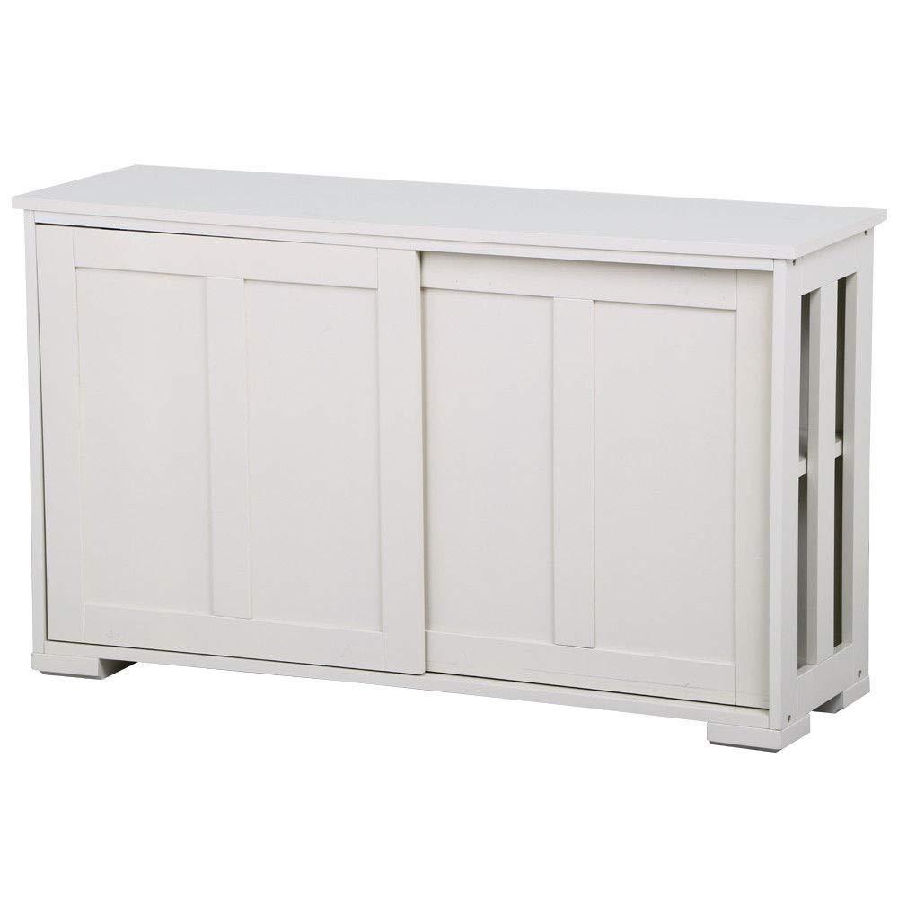 Seleq White MDF Buffet Cabinet Storage Cupboard